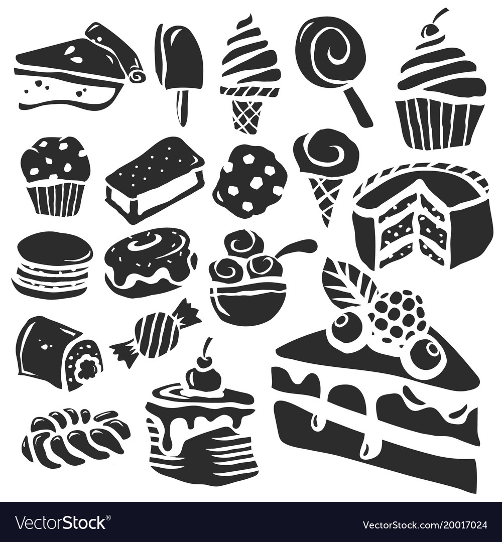 Dessert and baking icons