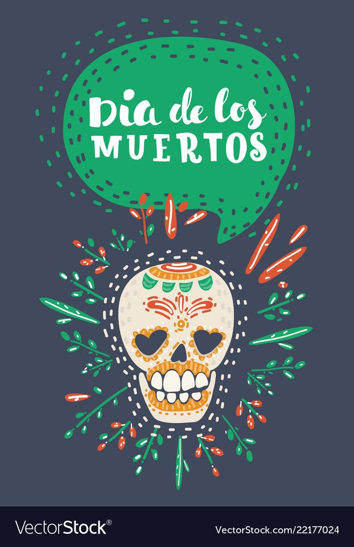 Dia de los muertos day of the dead poster