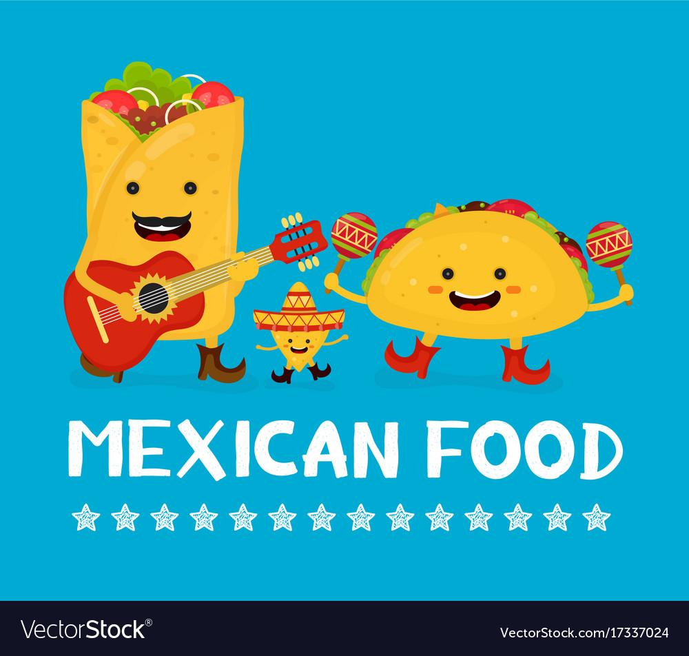 Mexican food creative card concept