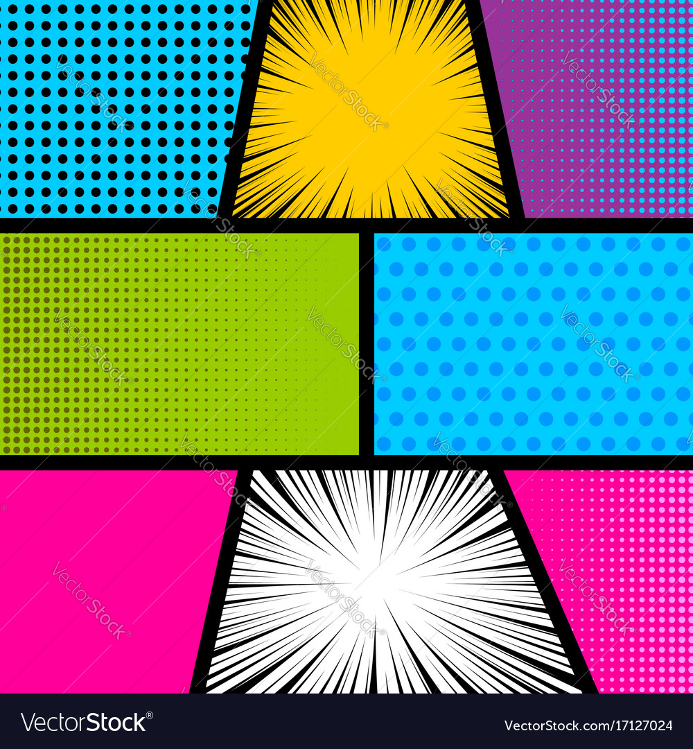 comic strip background template  Pop art comic book strip background