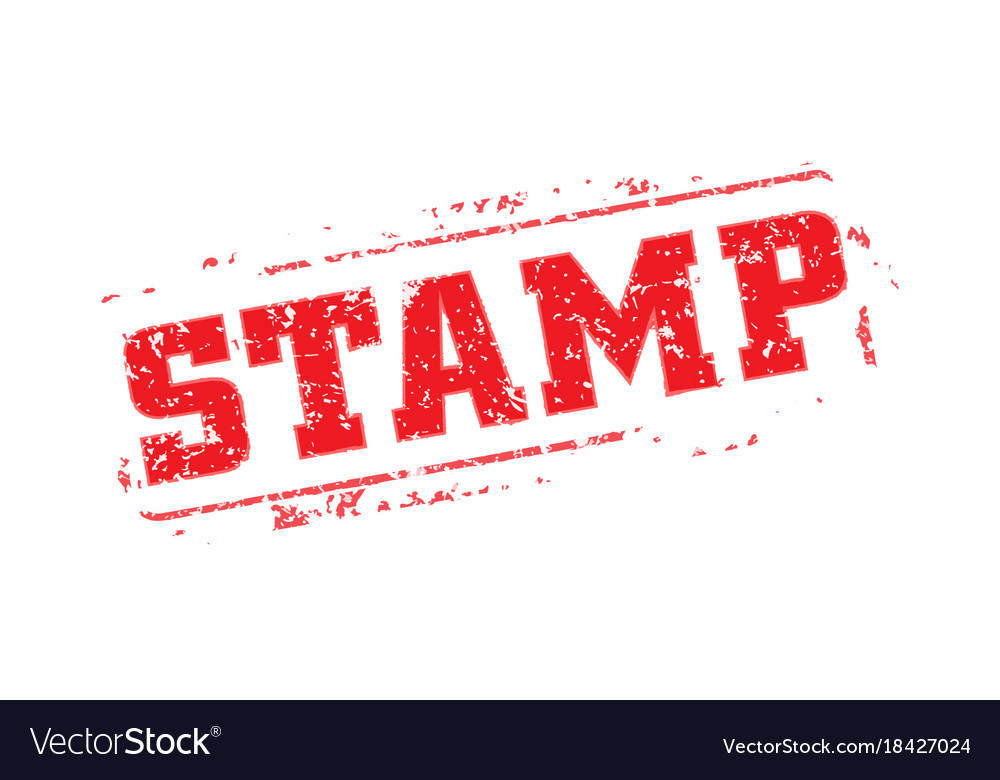 rubber stamp template royalty free vector image