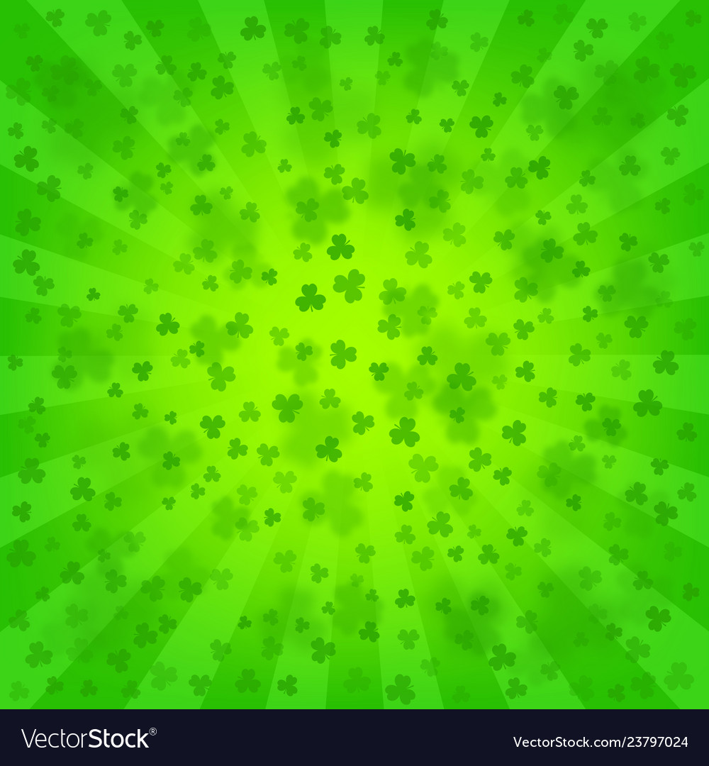 St Patricks Day Bright Background Royalty Free Vector Image