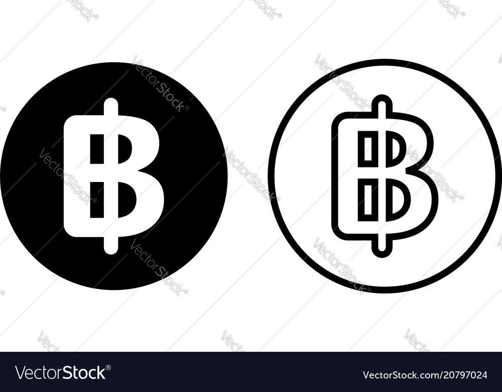 Thailand Baht Currency Symbol Icon Royalty Free Vector Image