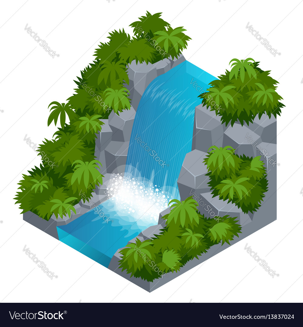 Waterfall in tropical forest build your own