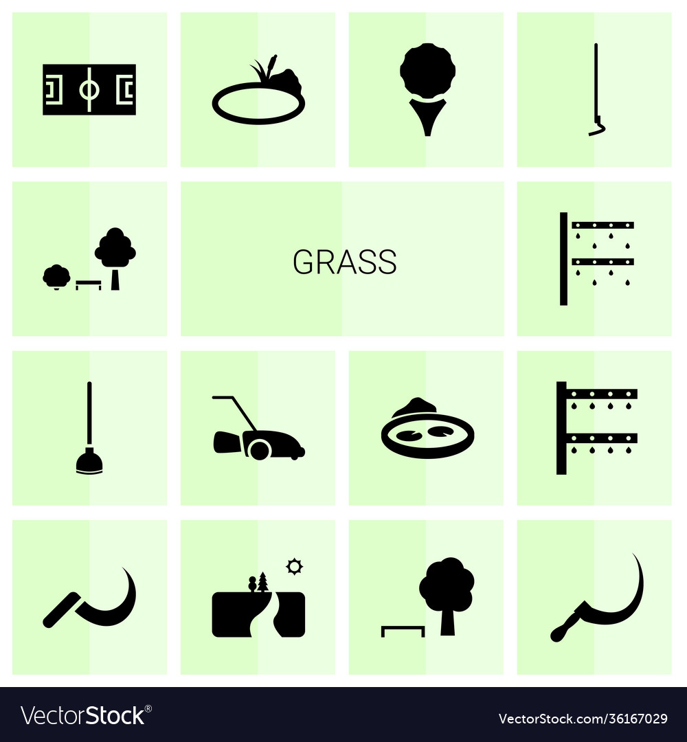 14 grass icons