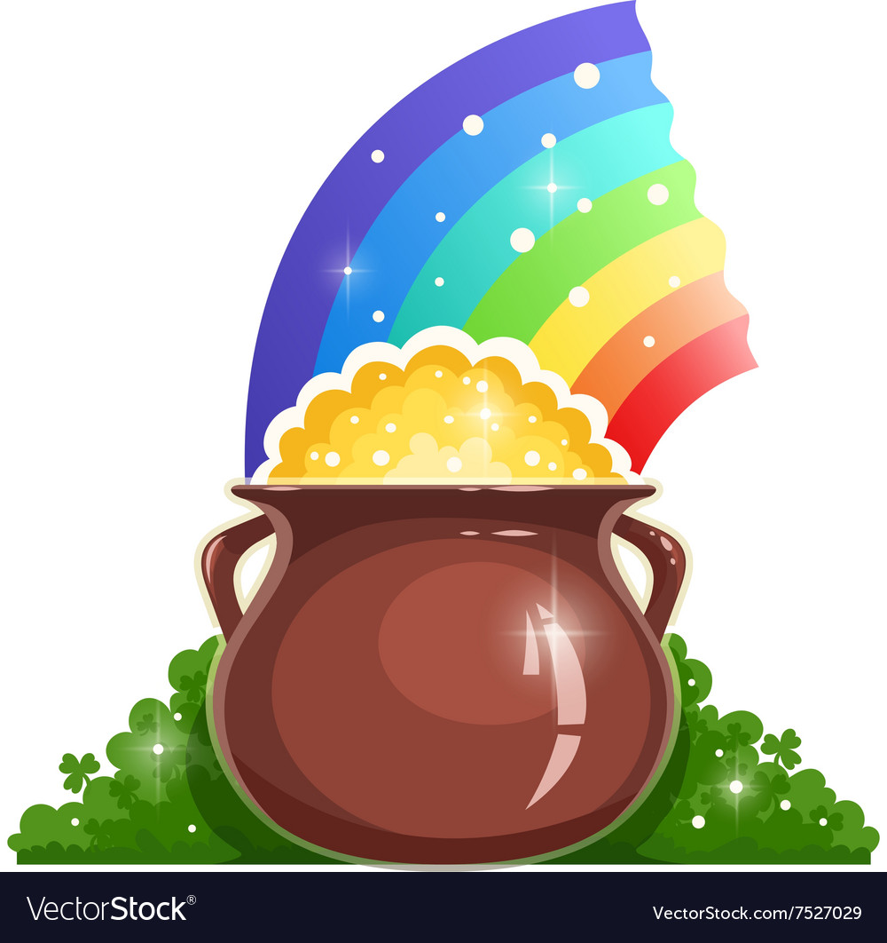 Kettle with gold and rainbow