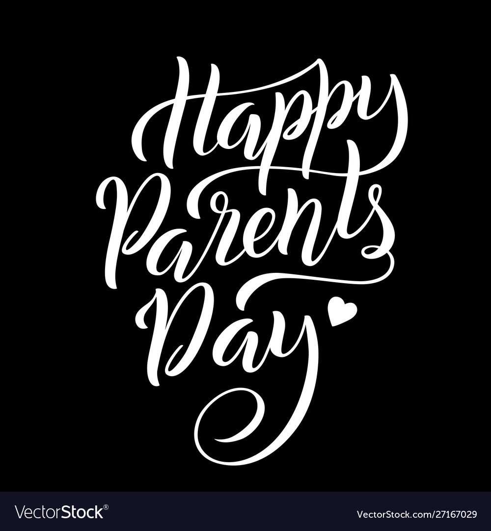 Lettering for parentss day greeting card