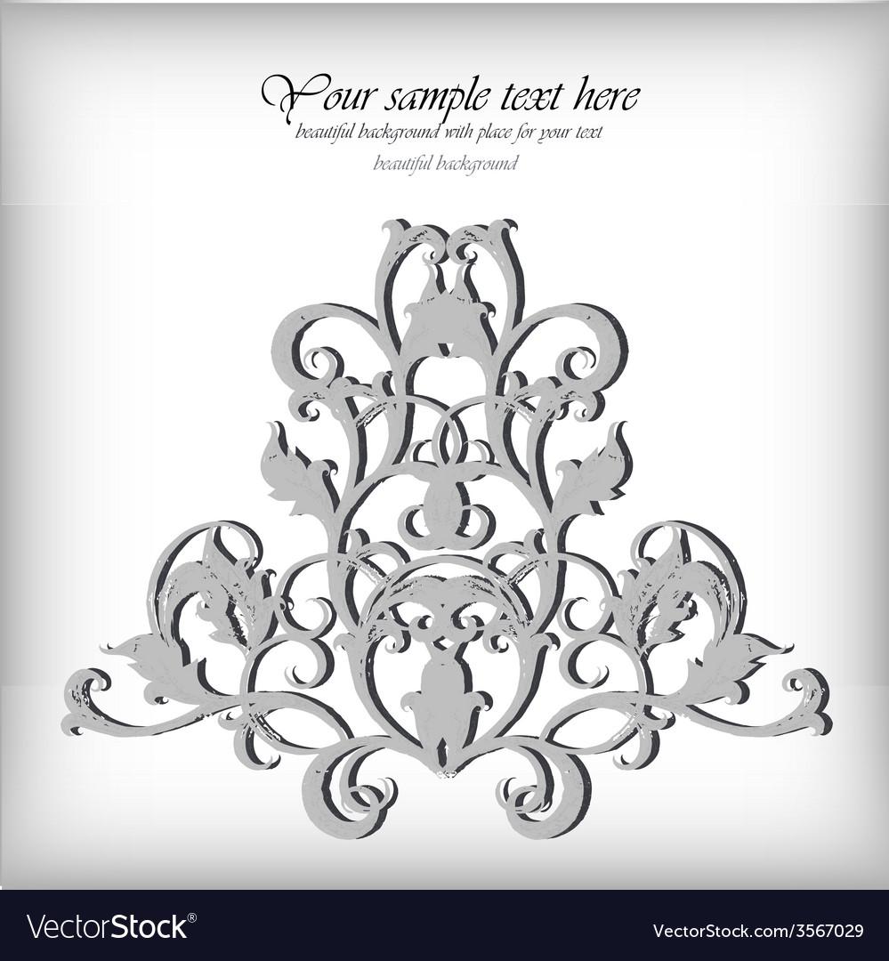 Ornate element for design Ornamental vintage for