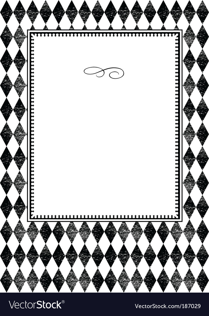 Plaid pattern and frame