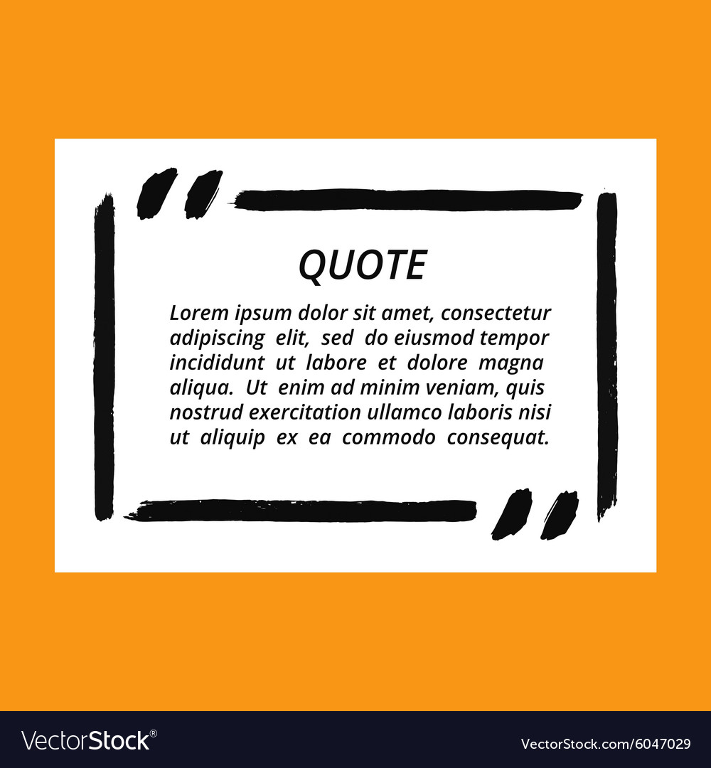 Quote Blank Frame Template Royalty Free Vector Image