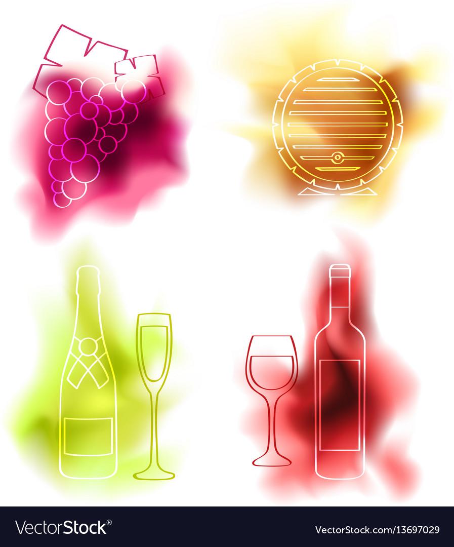 Set of wine