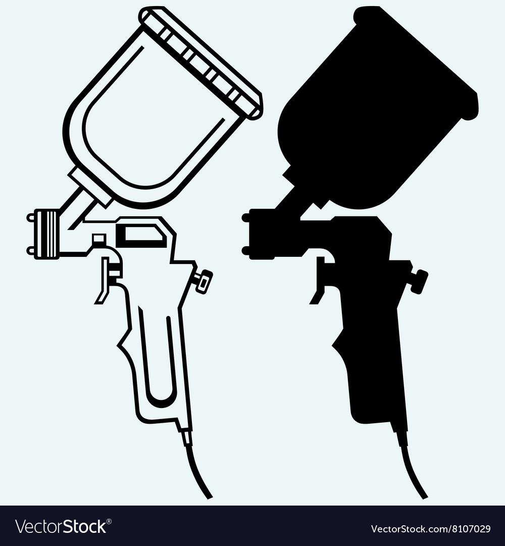 Spray gun vector image