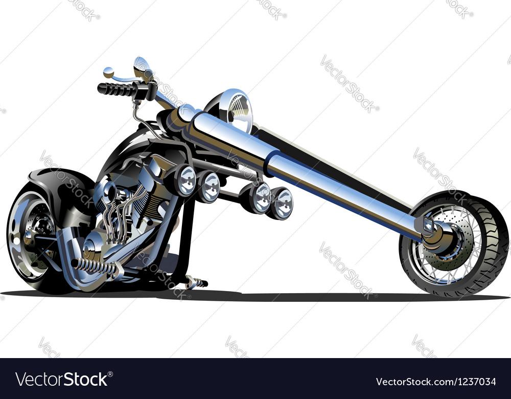 Cartoon Motorbike vector image