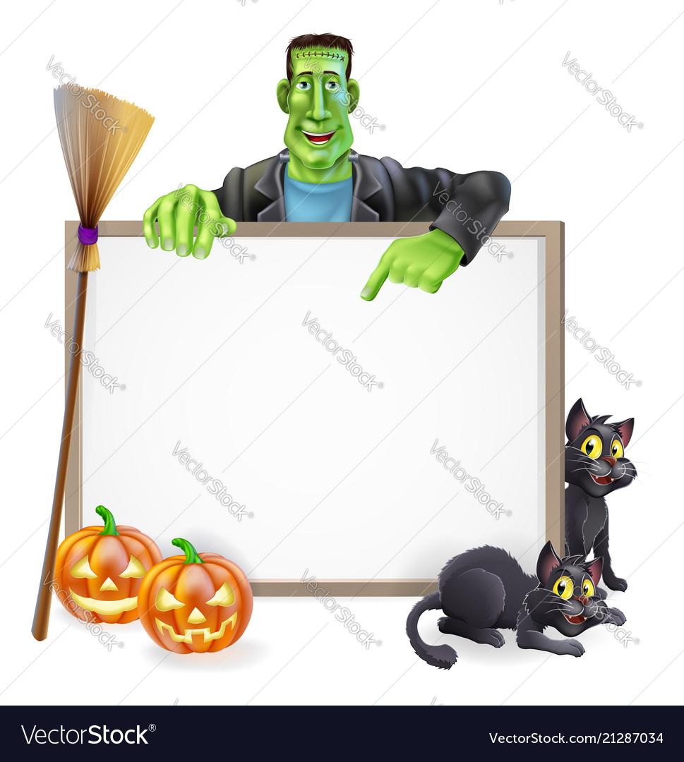 Frankenstein halloween sign