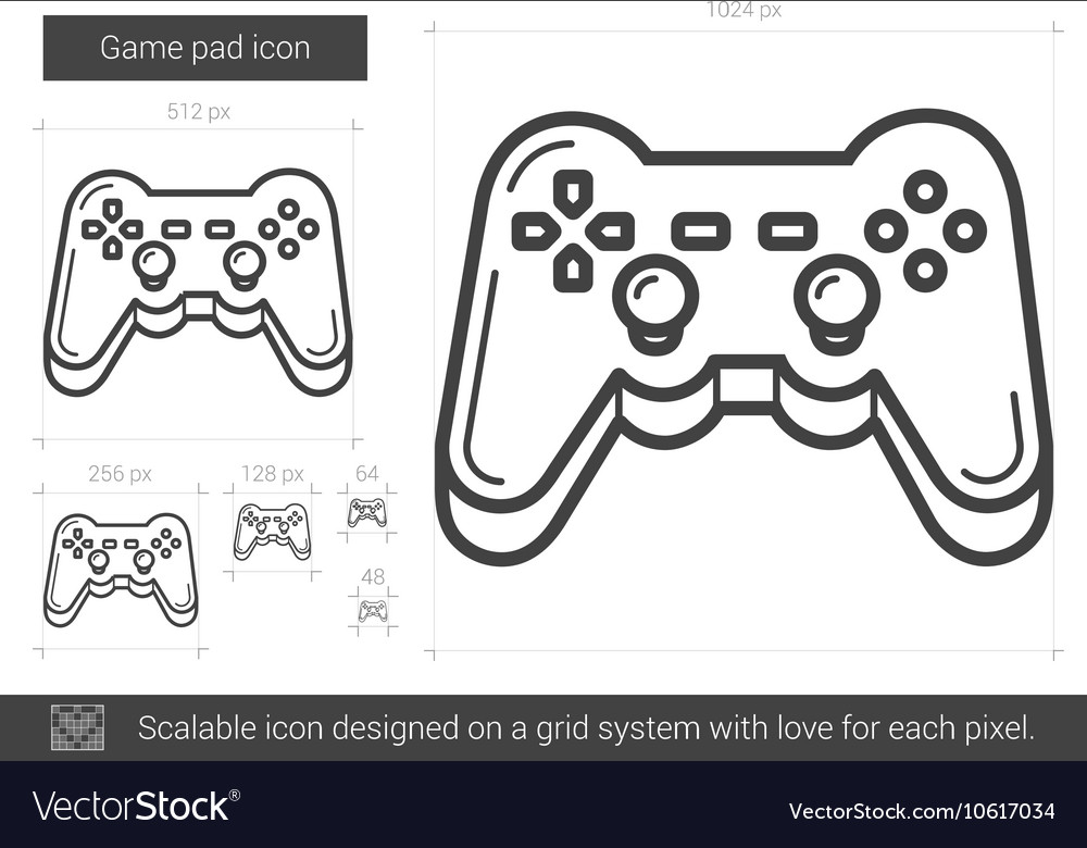 Game pad line icon