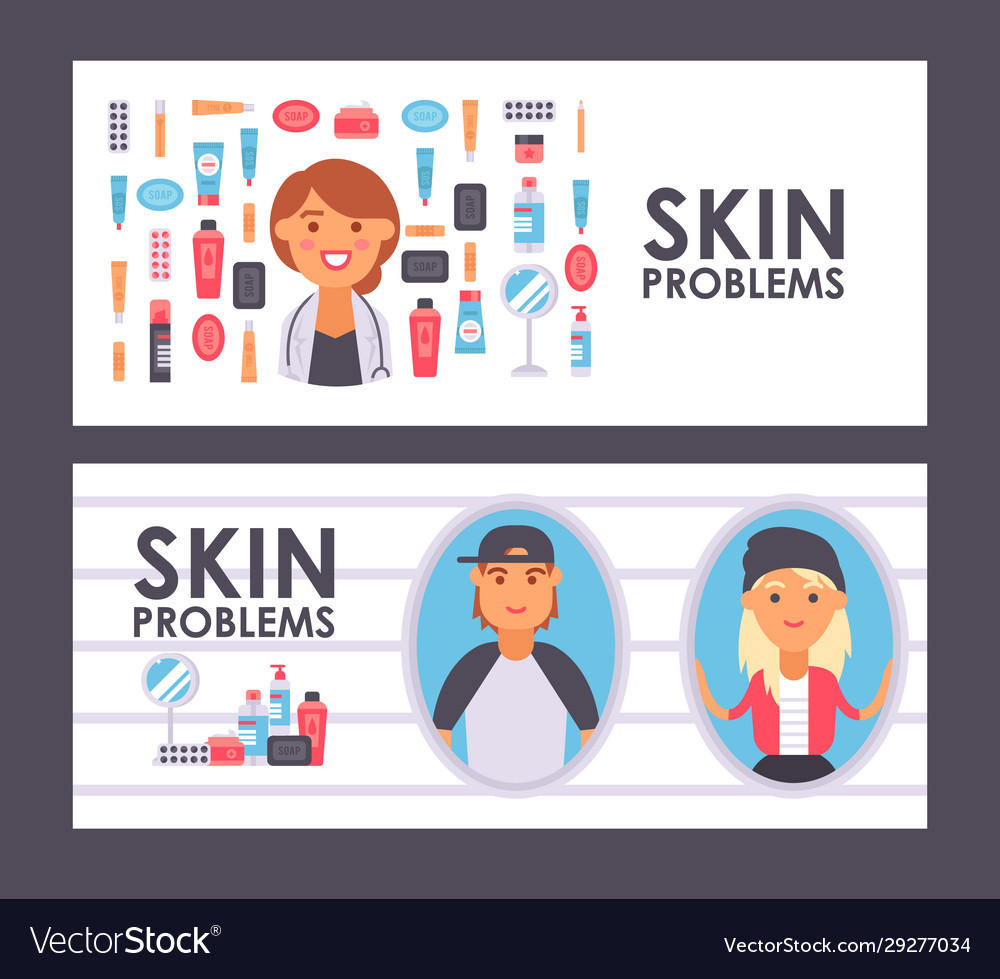 Skin Care Banner Royalty Free Vector Image Vectorstock