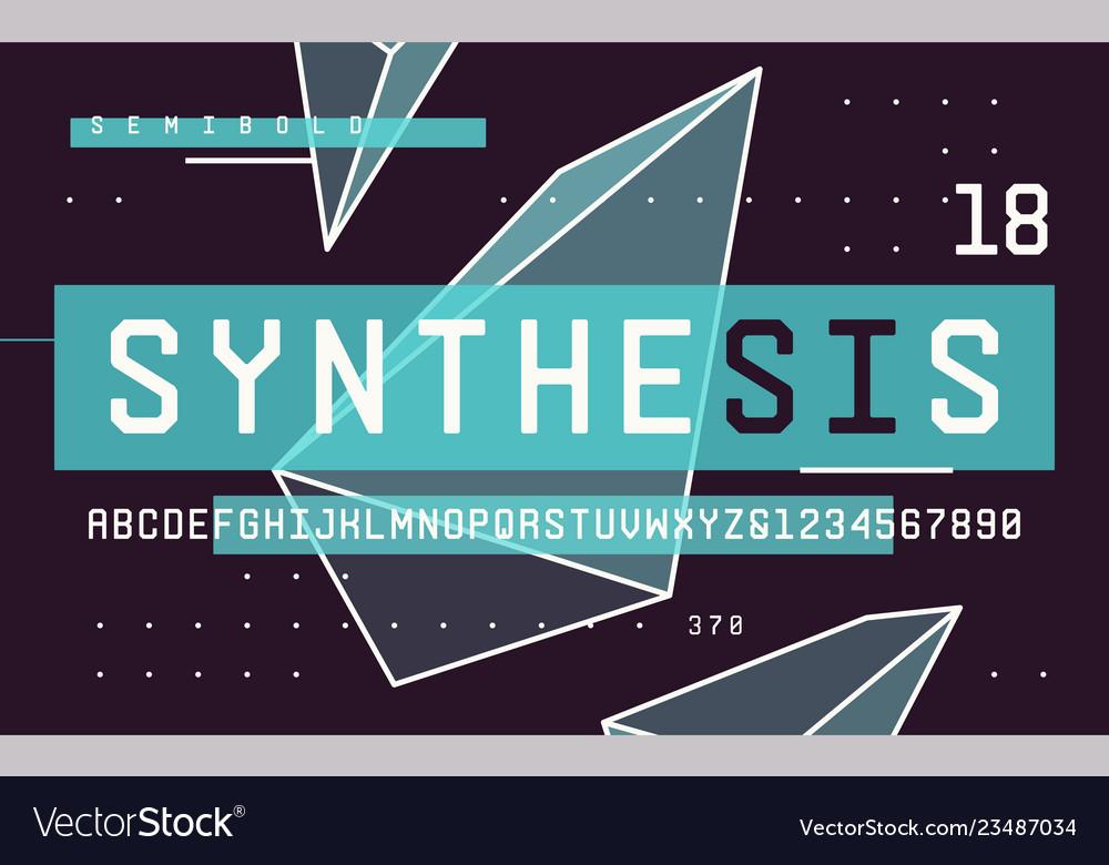 Technology semibold san serif uppercase letters