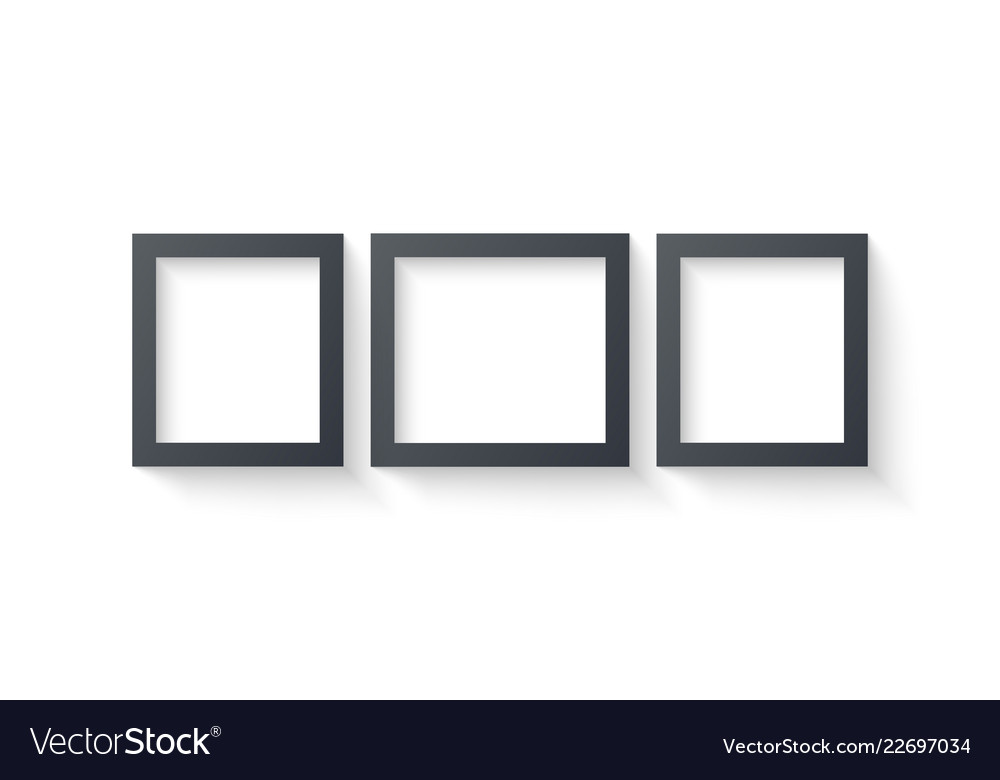 Wall picture frame templates isolated on white