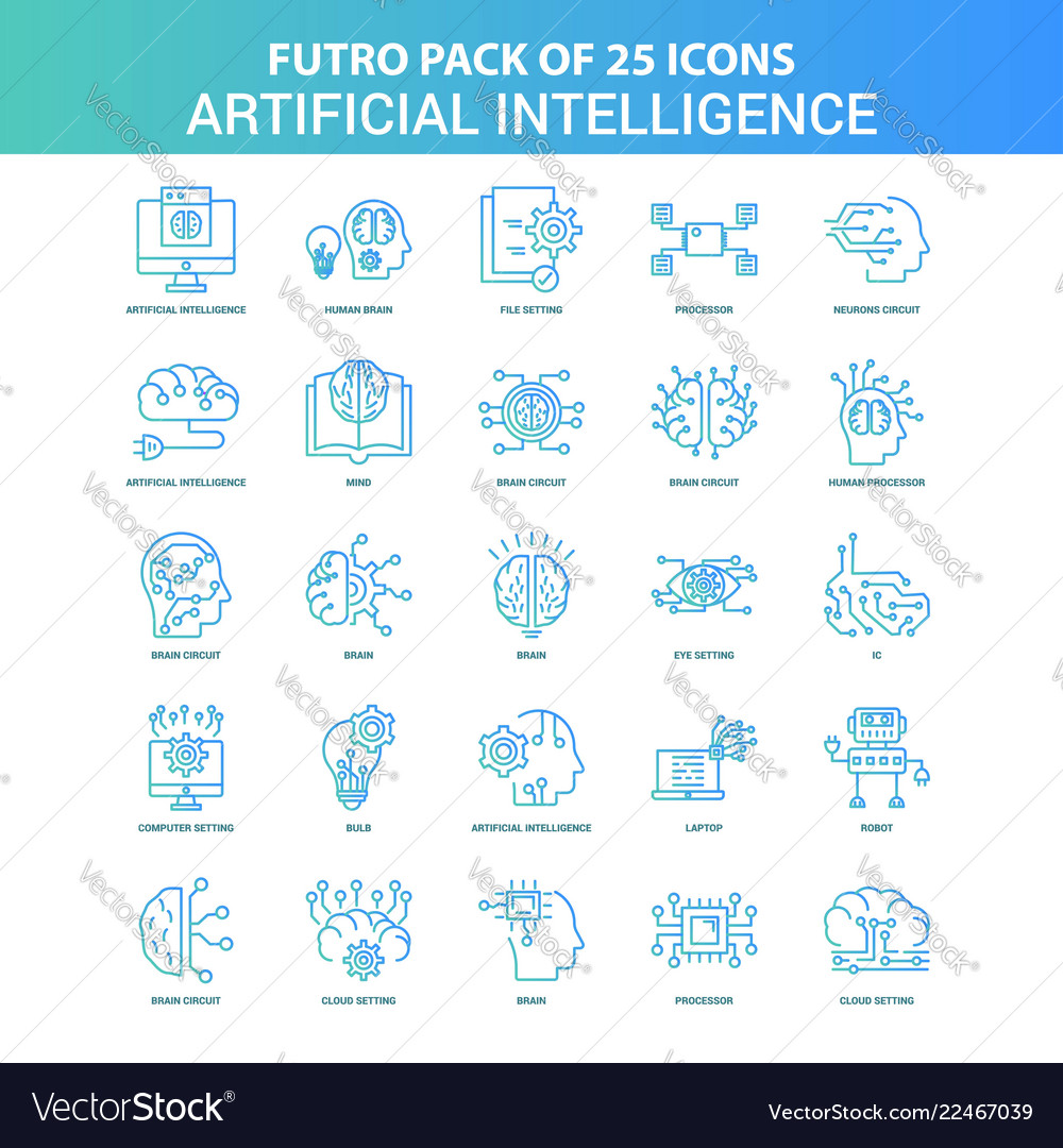 25 green and blue futuro artificial intelligence