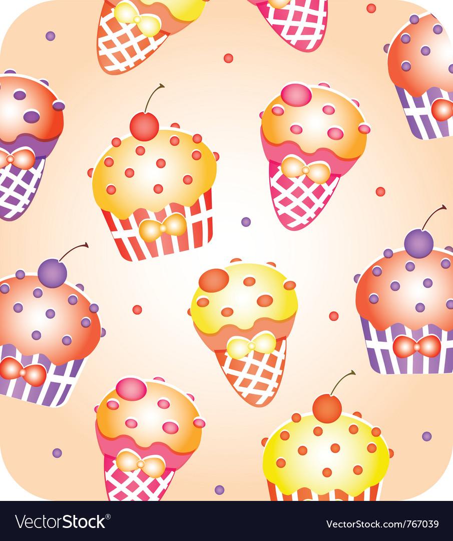 Cupcake wallpaper vector image
