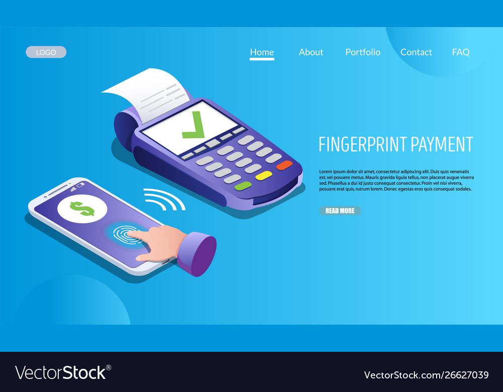 Fingerprint payment website landing page