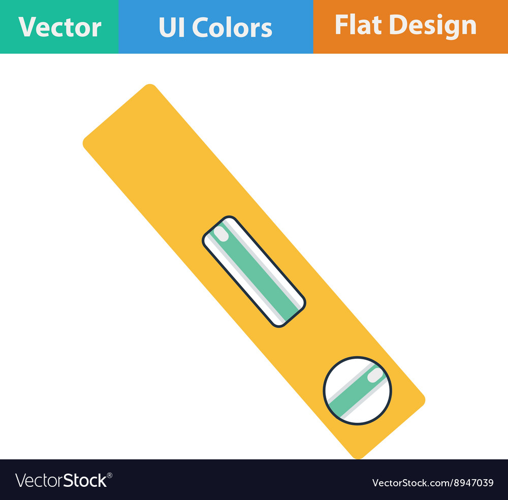 Flat design icon of construction level vector image
