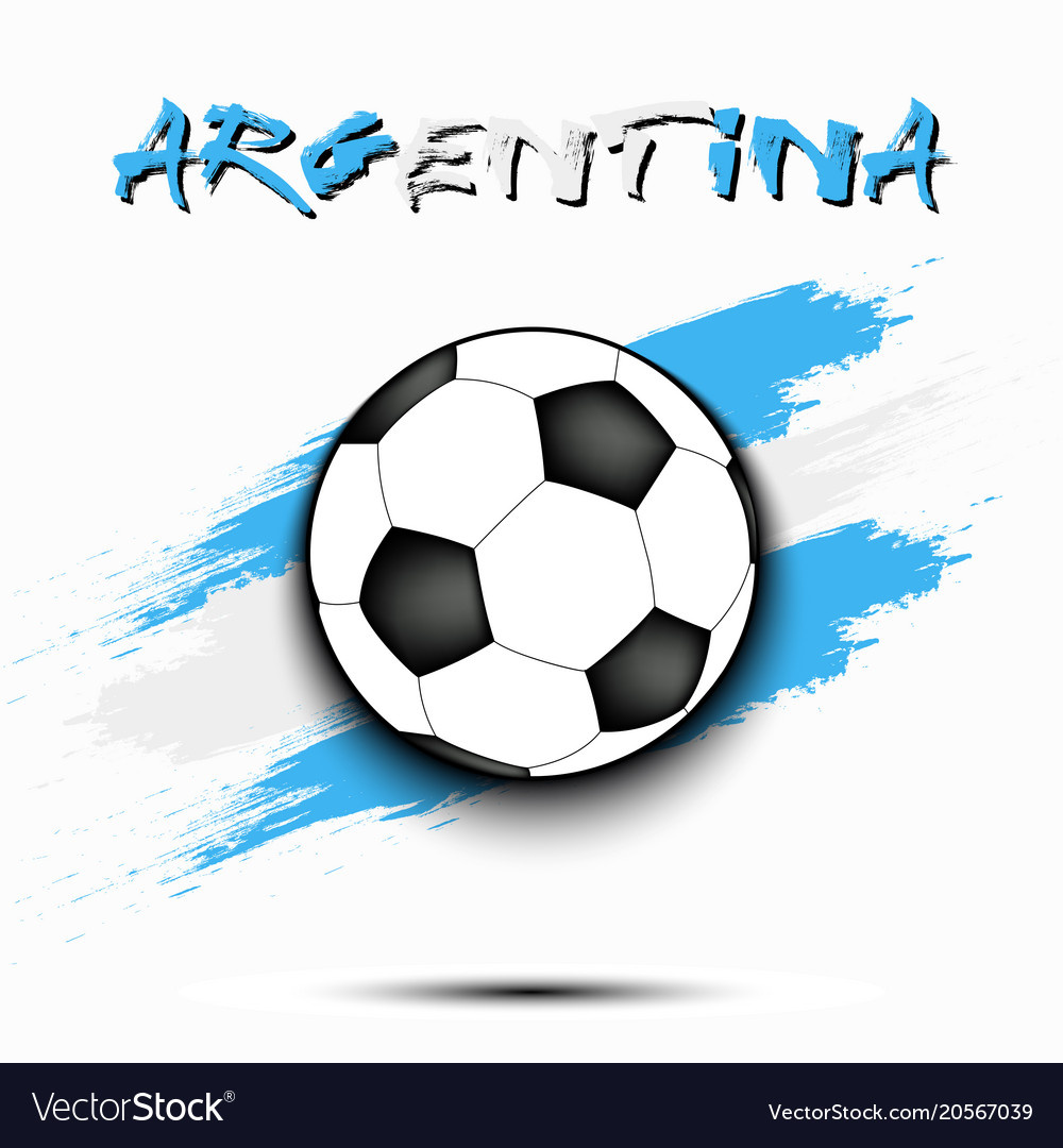 Soccer ball and argentina flag Royalty Free Vector Image f9d6a9040838