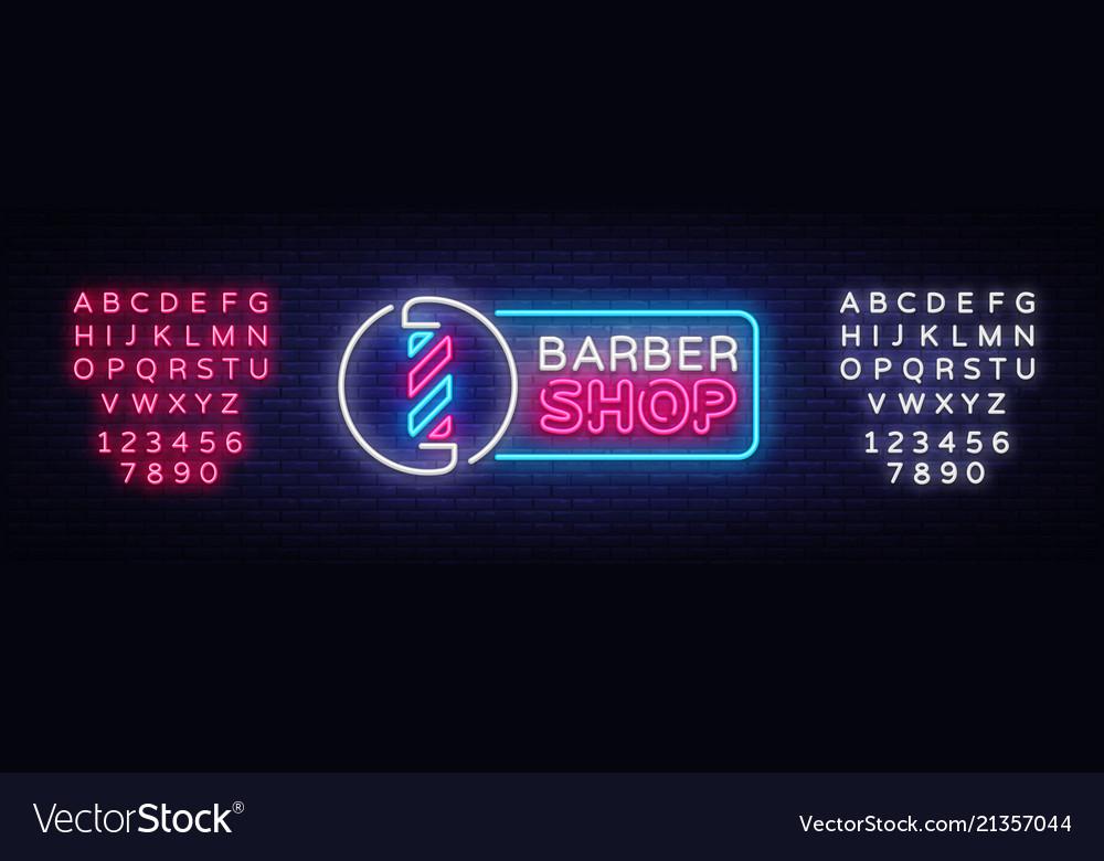 Barber shop neon sign barber shop design