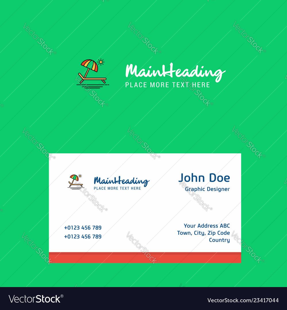 Beach logo design with business card template