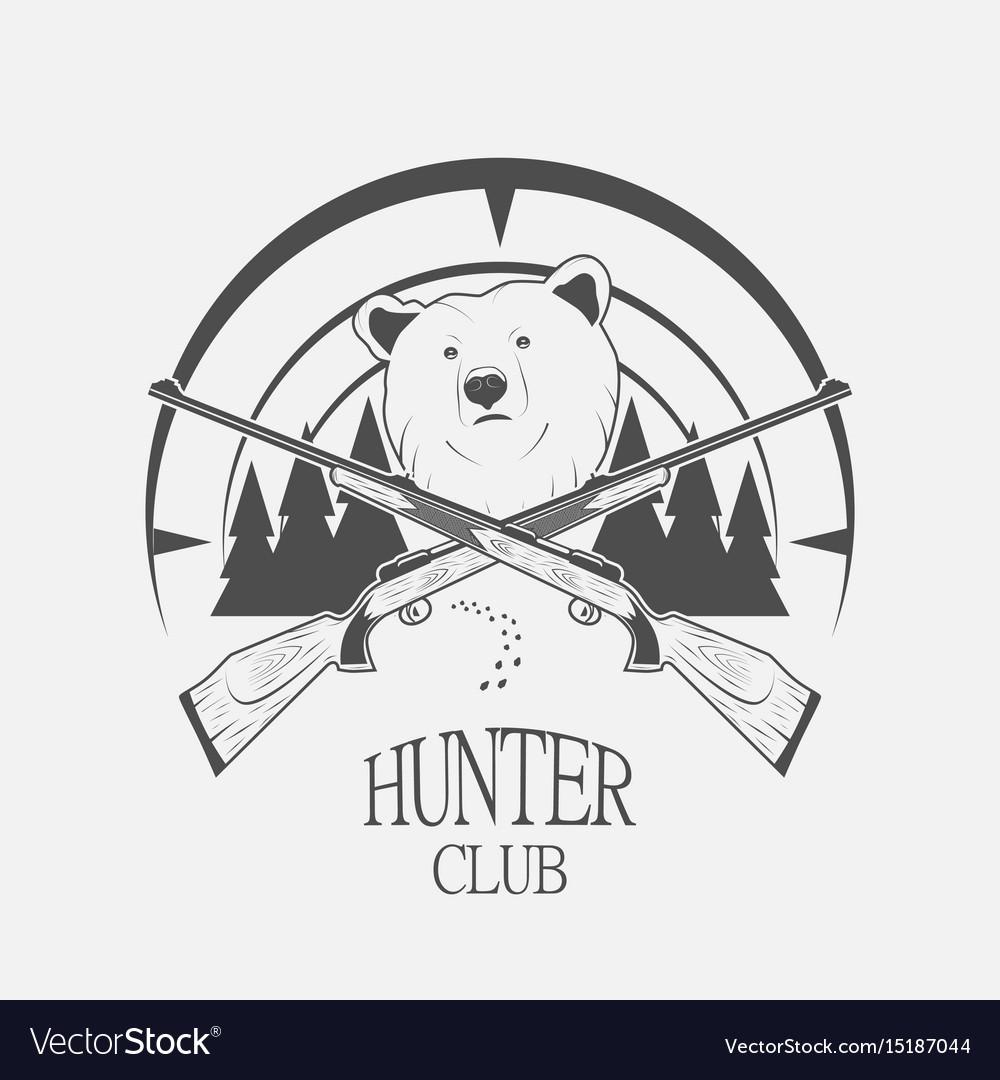 Bear and gun