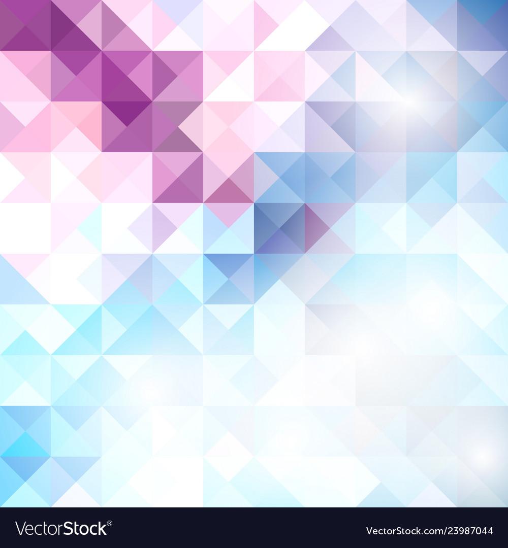 Blue grid mosaic background creative design