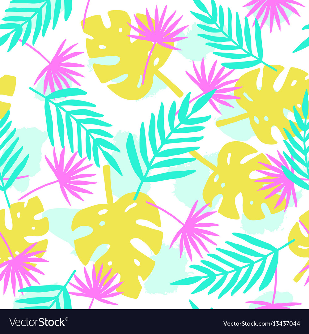 Bright tropical leafs background