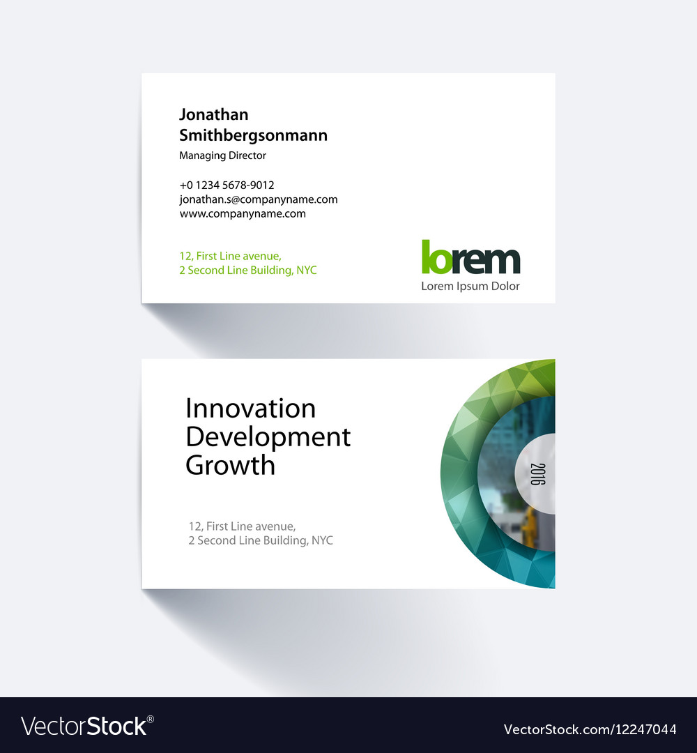 Business card template with half target royalty free vector business card template with half target vector image colourmoves