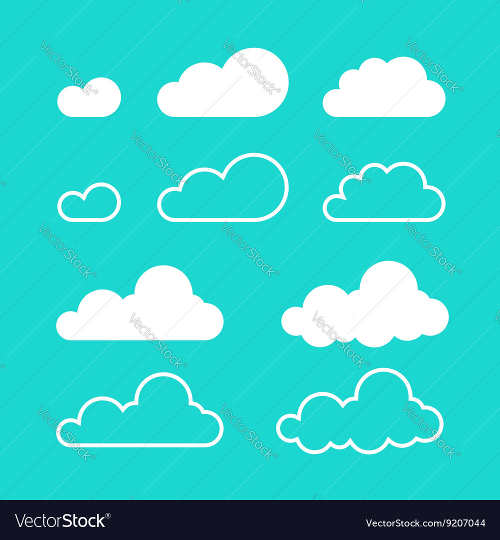 Clouds isolated on blue sky background