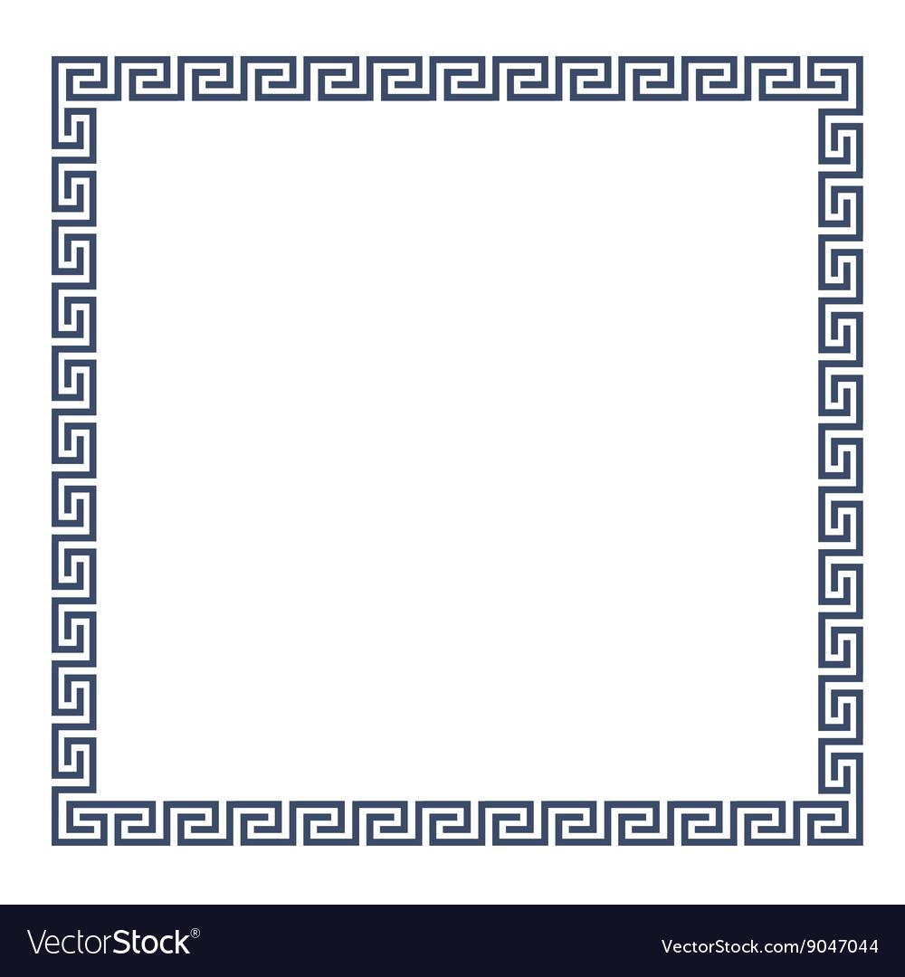 Decorative Greek frame for design Royalty Free Vector Image