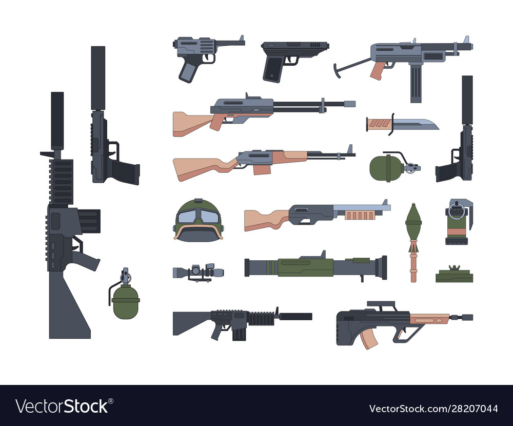 Military weapons and protection flat