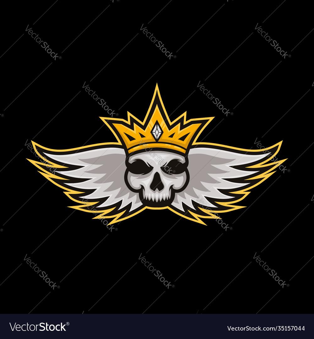 Skull king sports logo skull king mascot logo for