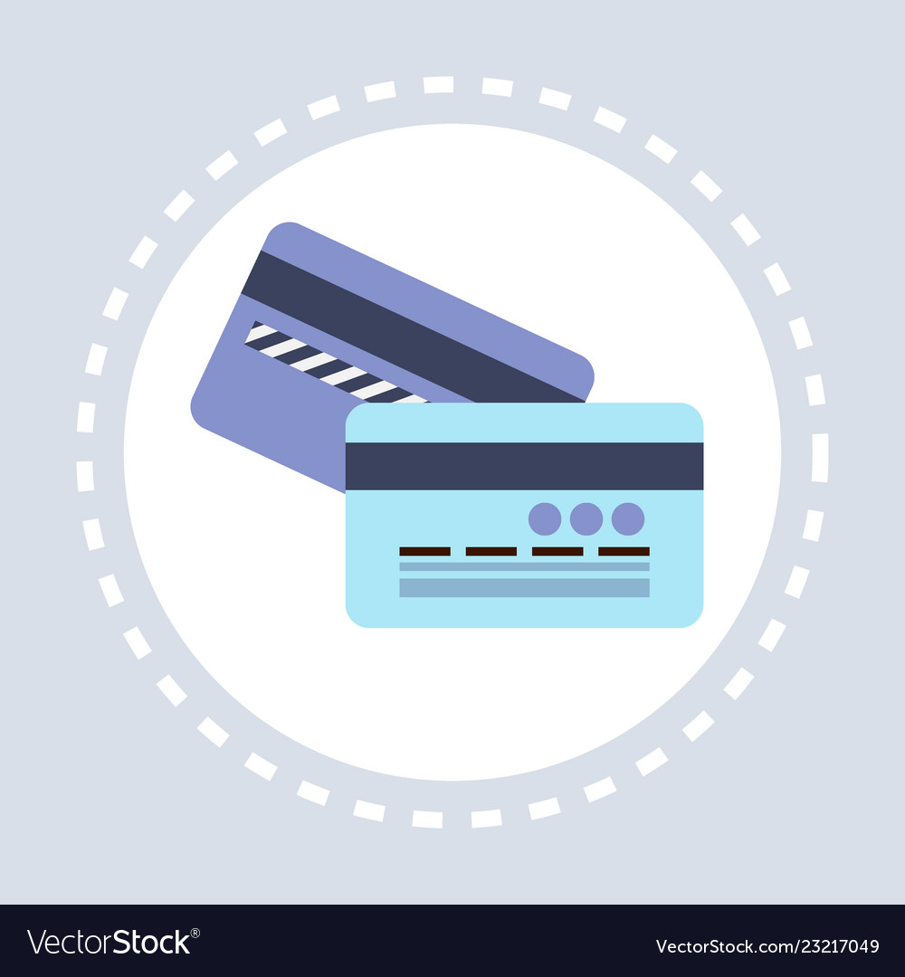 Banking credit card electronic money concept flat