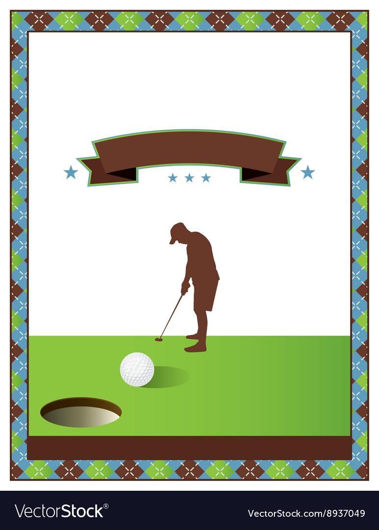 Blank golf flyer