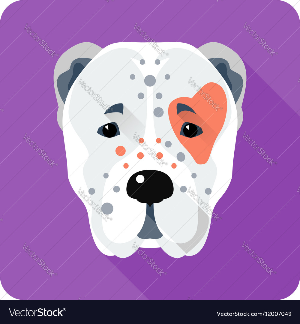 Central Asian Shepherd Dog icon flat design vector image