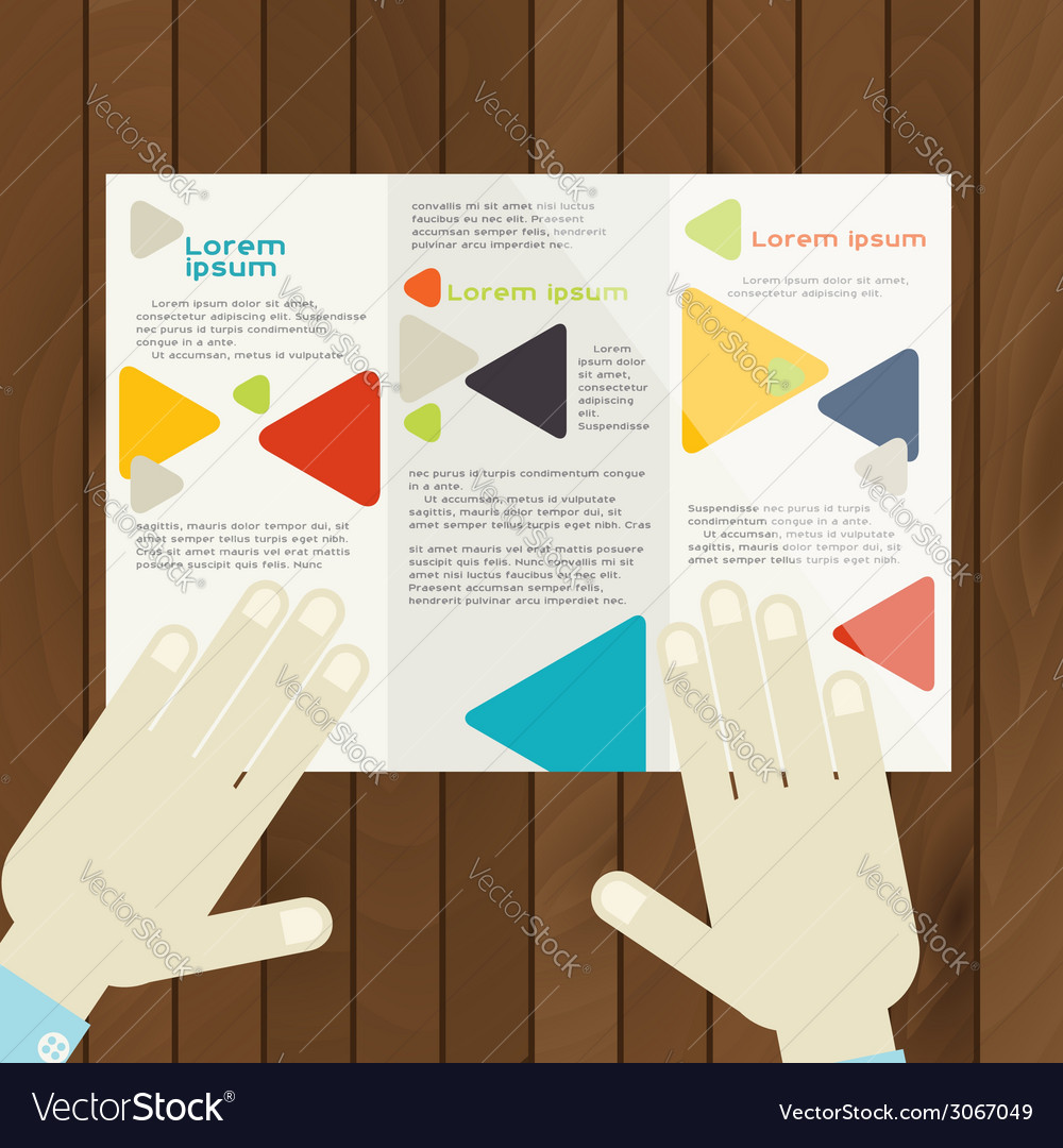 Flat Design Brochure Template Royalty Free Vector Image