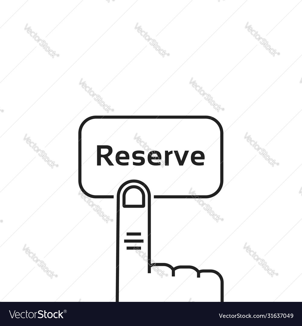 Minimal black thin line reserve button