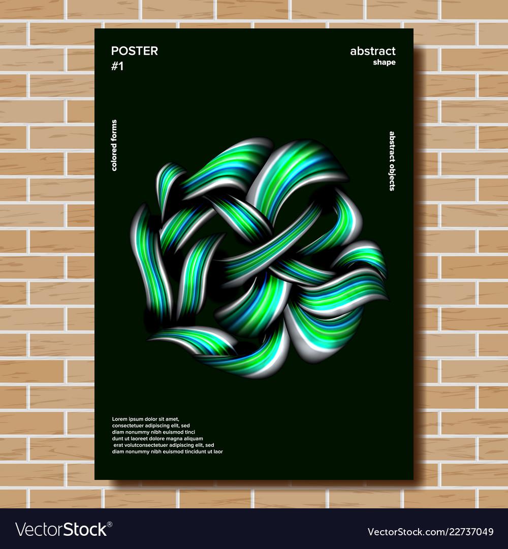Modern poster minimal brigth background