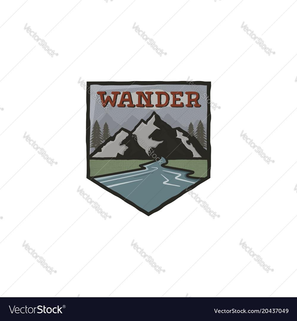 Mountain vintage badge mountain explorer label