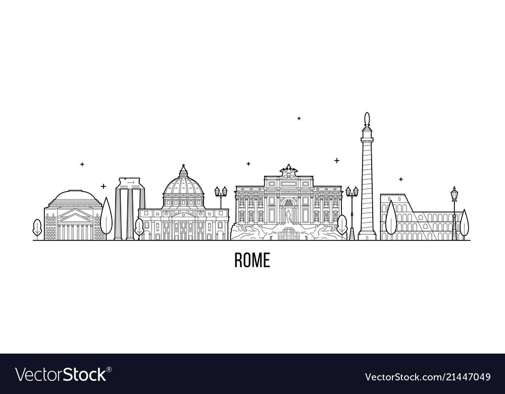 Rome skyline italy city buildings