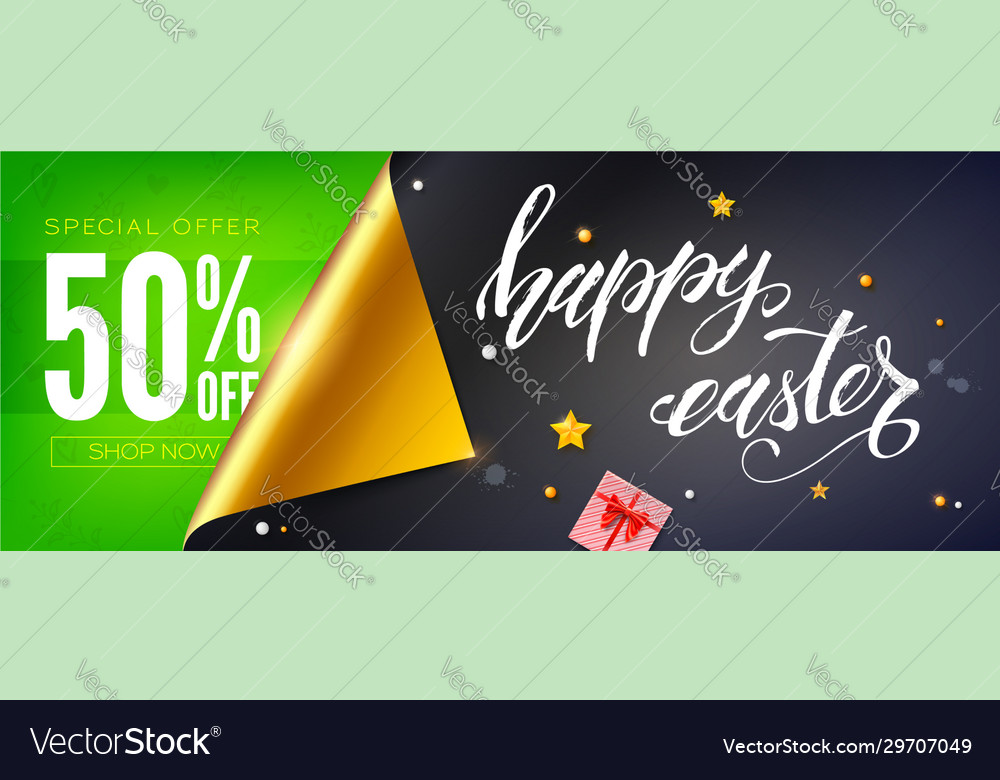Sale 50 percent discount text on green