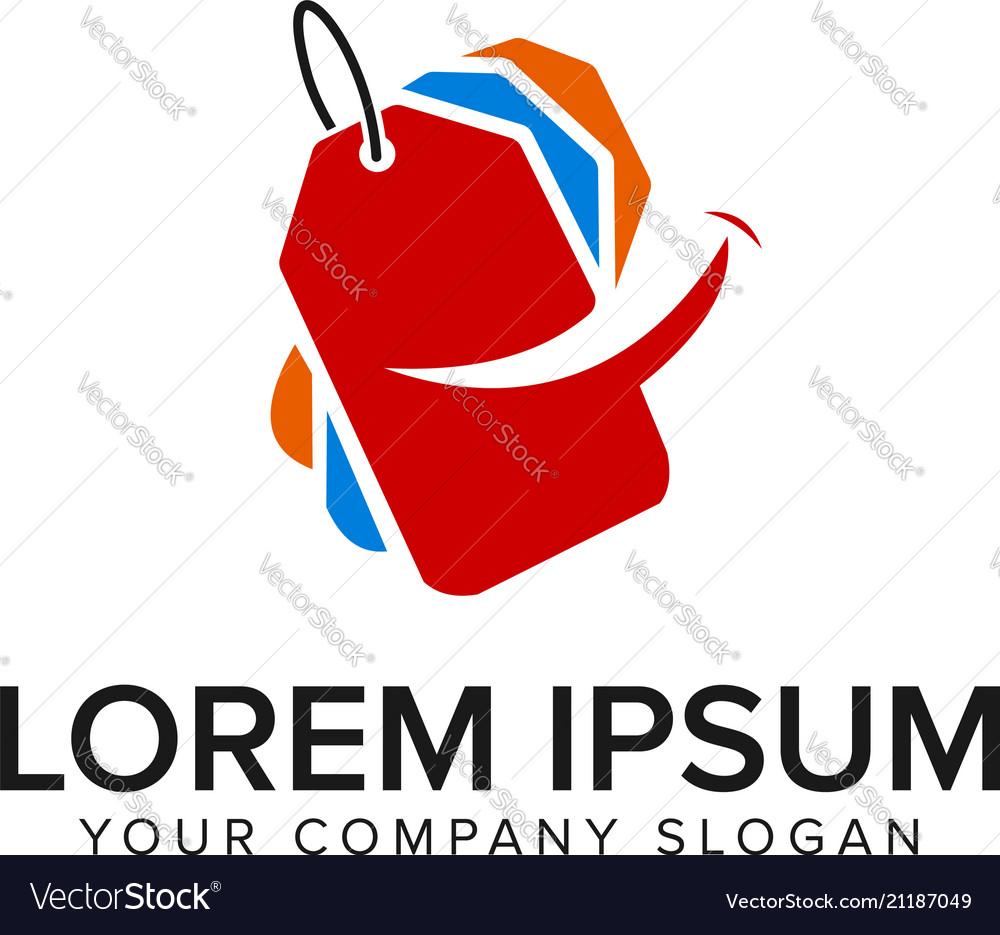 Smile sale label logo design concept template
