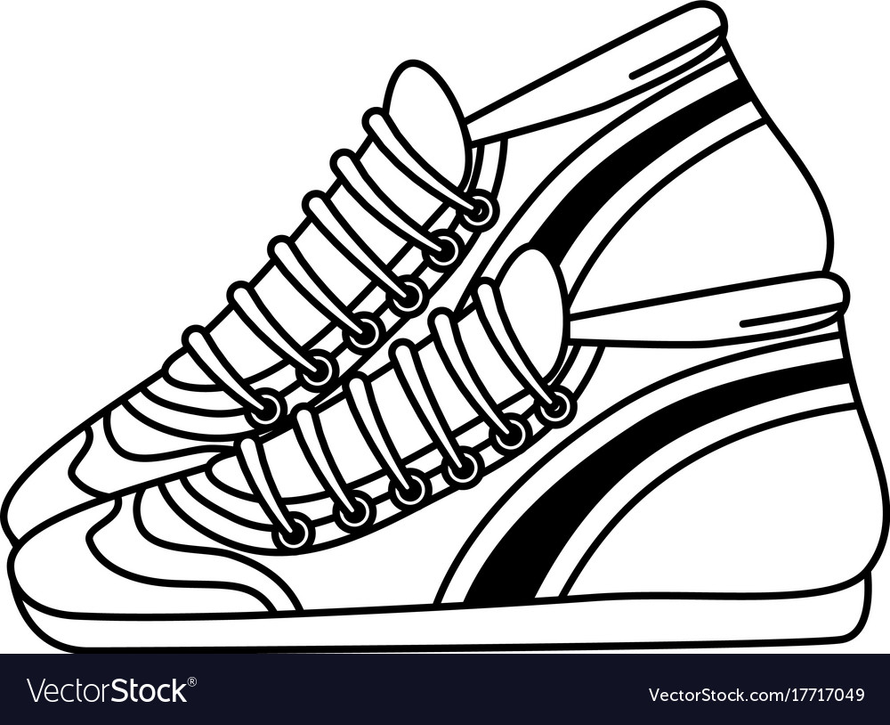 Sport tennis shoes isolated icon