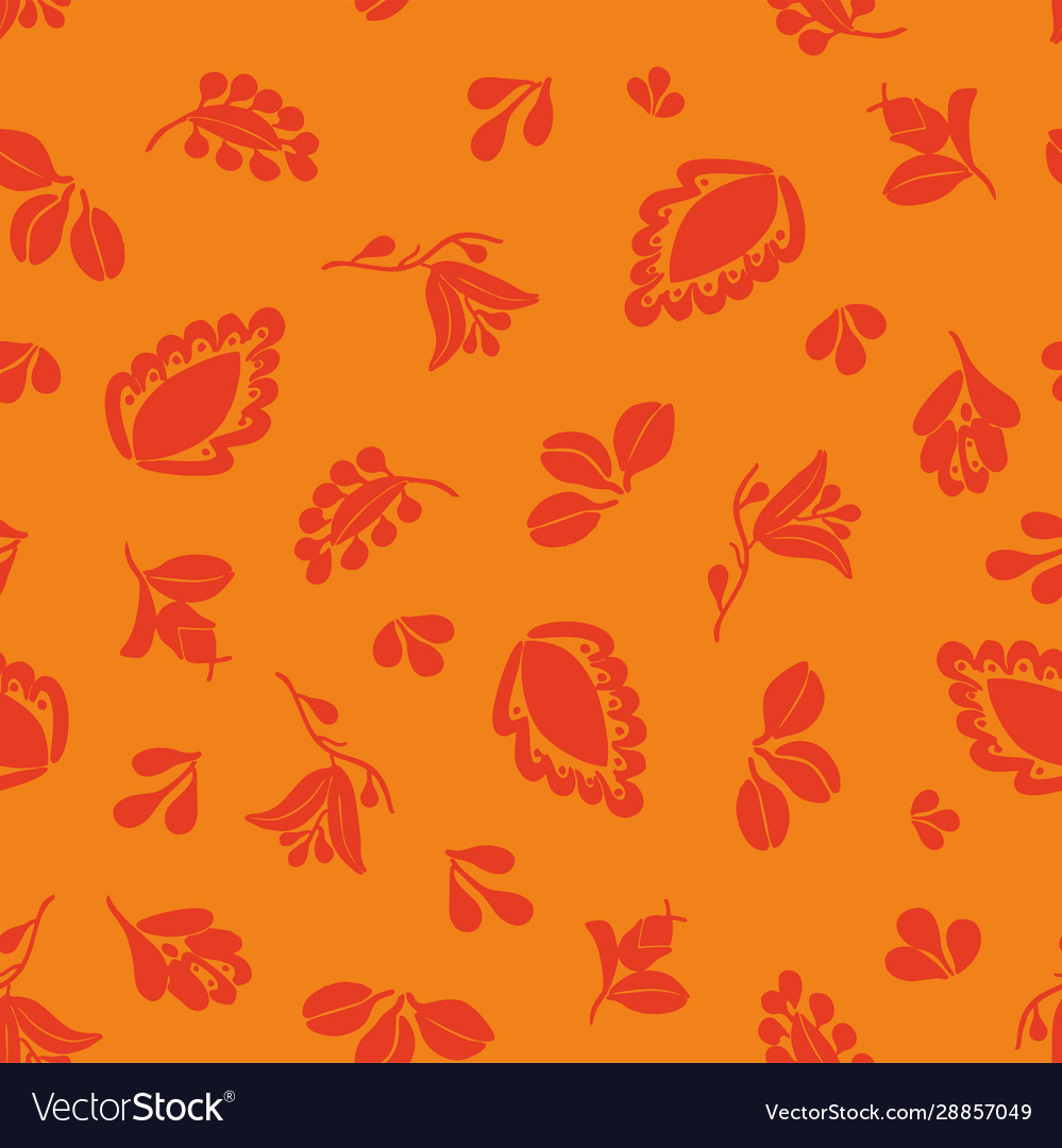 Tile pattern with seamless red floral print