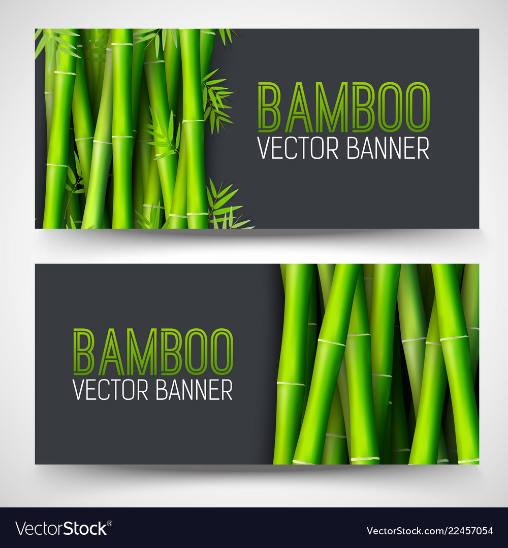 Bamboo banners concept intage art traditional